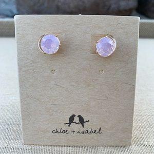 Chloe + Isabel Pink Brilliant Stud Earrings